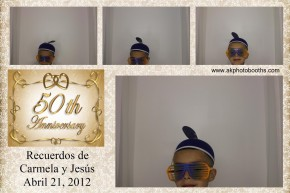 photo booth at 50th wedding anniversary