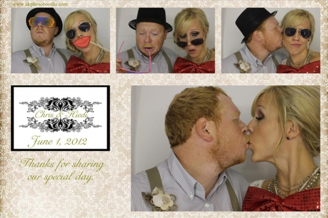 bride and groom in photo booth dallas