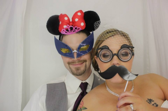Photo booth pictures from wedding at the Wildwood Inn in Denton Texas.