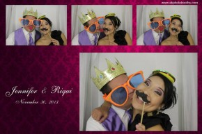 Mediterranean Villa wedding photo booth pictures in Arlington, Texas.