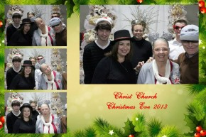 Christ Church in Irving Christmas Eve service and family photo booth pictures.