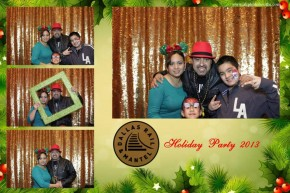 Dallas Rail corporate holiday party photo booth pictures.