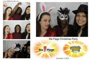 Six Flags employee Christmas holiday party at the Texas Rangers ballpark captain morgan club.