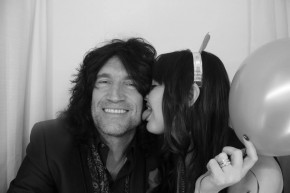 Tommy Thayer in the photo booth at New Years party in Dallas.