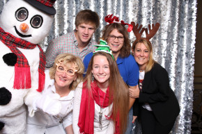 Dallas photo booth rentals open style photo booth with silver sequin backdrop for weddings, parties, corporate events, holiday parties, quinceaneareas, sweet sixteen, birthdays