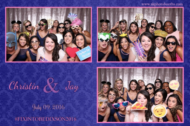 Group Photo Booth Picture Of Bride And Bridesmaids At Wedding Reception Aristide Mansfield TX