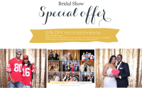 Dallas bridal show and Fort Worth bridal show special offer on photo booth rentals.