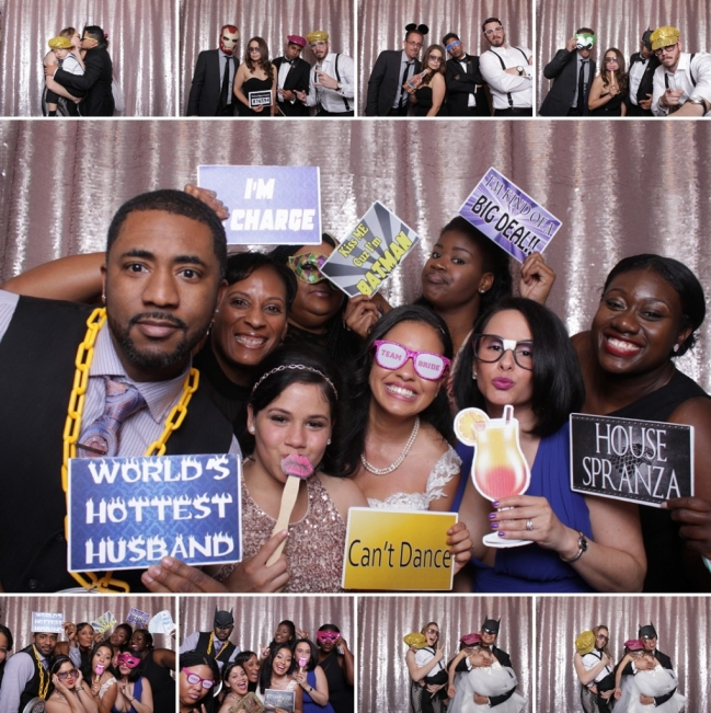 Dallas photo booth rentals with open style photo booth.