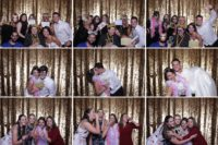Dallas photo booth rentals with open style sequin backdrops by A & K Photo Booths.