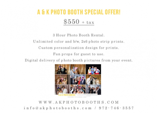 Dallas Photo Booth Rentals | Limited Time Offer | Fort Worth photo booth rental specials.